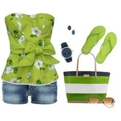 Love the bright green for A Hawaiian Homicide outfit.