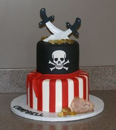 pirate cake! Devin, this should be your b-day cake!