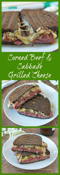 Corned Beef and Cabbage Grilled Cheese Sandwich. Easy, fun St. Patrick's Day recipe! www.wellplated.com