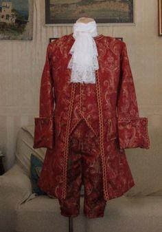 abito storico maschile 1750-60