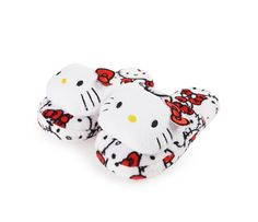 Hello Kitty Face Plush Pillow Slippers: White and Red Hello Kitty Shoes, Hello Kitty Plush, Hello Kitty Bag, Hello Kitty Items, Sanrio Hello Kitty, Hello Hello, My Little Pony Shoes, Miss Kitty, Watch Cartoons