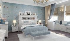 Дизайн интерьера спальни в стиле Винтажный Прованс