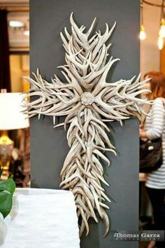 THIS ANTLER CROSS IS BEAUTIFUL
