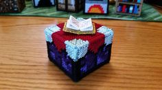 Minecraft Enchantment Table in Plastic Canvas