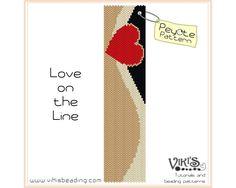Peyote Beading Pattern: Love on the Line par VikisBeadingPatterns