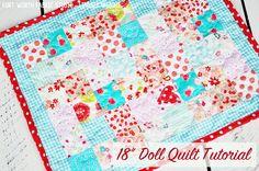 "Fort Worth Fabric Studio: 18"" Doll Quilt Tutorial"