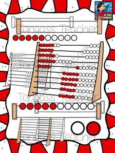 Subitizing Clipart Bundle from tongassteacher on TeachersNotebook.com -  (52 pages)  - This 52 piece clipart bundle features a variety of different subitizing graphics, including rekenrek (arithmetic rack) frames (large frame comes with and without balls), 1-10 red and white pieces with red beginning on the left and on the right (with and w