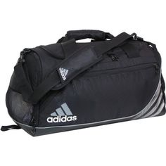 adidas Team Speed -- The Team Speed Duffel Small is built for superior team functionality. The large main compartment features an interior zippered pocket for your valuables. On one end cap of the duffel is a freshPAK ventilated compartment, great for keeping smelly shoes and gear separate from the rest of your stuff. On the other side of the bag is a mesh drop pocket for additional storage.