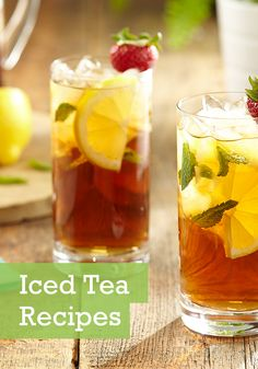 What's better than taking the first sip of an ice cold glass of tea on a warm summer day? Taking a sip of a flavor-packed variety! Get some infused iced tea recipes that use fruit and fresh herbs to really bring the flavor this summer.