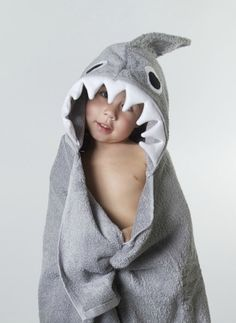 Shark Hooded Towel by bibsandbuttons on Etsy