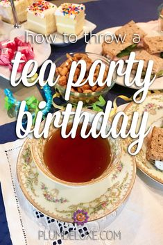 With a tasty menu, dreamy decor, and ideas for gifts and entertainment, this tea party birthday will spoil your guest of honor. Tea Party Theme, Tea Party Birthday, Party Themes, Cake Recipes, Dessert Recipes, Banana Cheesecake, Vanilla Bean Ice Cream, Classic Cake, Tea Gifts