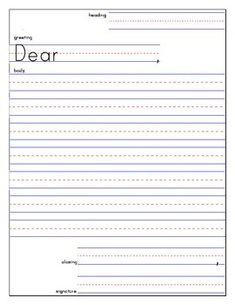 Letter writing paper friendly letter school stuff pinterest friendly letter template and example maxwellsz