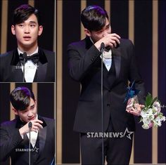 CONGRATS! You deserve it! Kim Soo Hyun receives his daesang from the 2014 Korea Drama Awards in tears - Latest K-pop News - K-pop News | Daily K Pop News