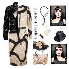 """""""Oatent Leather"""" by ragnh-mjos ❤ liked on Polyvore featuring Pokemaoke, Proenza Schouler, MaxMara, R13, Valentino, Vivienne Westwood, Pamela Love, contest, outfit and patentleather"""