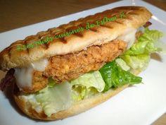 Les plats cuisinés de Esther B: Panini au poulet croustillant