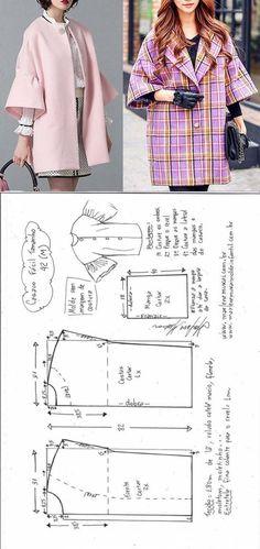 Пальто силуэта оверсайз, спущенное плечо (Шитье и крой) | Журнал Вдохновение Рукодельницы