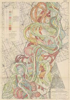 Map of the Mississippi River meander belt