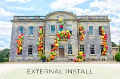 Mind blowing external installations created by the Bubblegum Balloons team on some of the world's most beautiful buildings. Bubblegum Balloons, World's Most Beautiful, Beautiful Buildings, Bubble Gum, Mind Blown, The Incredibles, Mansions, House Styles, Gallery