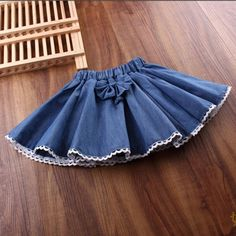 2017 Spring Autumn Summer Girl Skirt Girls Skirts Bow Lace Denim Children For Girls Fantasia Tutus Baby Saia Cake Tutu Baby Skirt, Baby Dress, Baby Outfits, Kids Outfits, Preppy Outfits, Little Girl Dresses, Girls Dresses, Dress Designs For Girls, Skirts For Kids