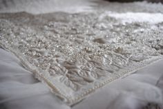 wedding dress keepsake quilt - detail