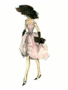 Robert Best Barbie Blush Becomes Her 2 Fashion Print Fashion Prints, Fashion Art, Girl Fashion, Vintage Fashion, Fashion Design, Vintage Style, Barbie Drawing, Fashion Sketches, Fashion Illustrations