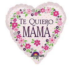 "Spanish ""Te Quiero MAMA"" Foil Balloon"