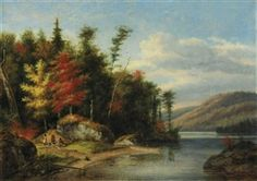 View Autumn, Lake Memphremagog By Cornelius Krieghoff; oil on canvas; Access more artwork lots and estimated & realized auction prices on MutualArt. Canada Landscape, Landscape Art, Group Of Seven, Cornelius, Canadian Artists, Oil On Canvas, Autumn, Artwork, Paintings