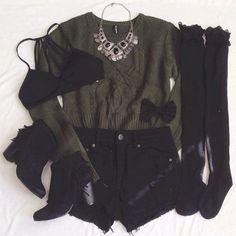 Imagem de fashion, black, and outfit