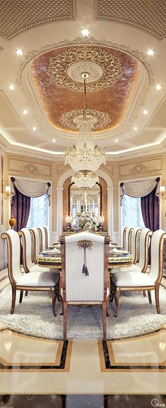 Luxury Home Design ● A formal dining room the guest house of the very wealthy Bella Donna