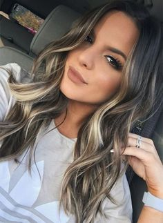 Natural Balayage Ombre Hair Color Trends for 2018