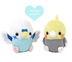 PDF sewing pattern Baby Bird plush stuffed animal by TeacupLion