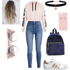 To school outfits, everyday outfits, teen fashion outfits, outfits for Teenage Girl Outfits, Girls Fashion Clothes, Teen Fashion Outfits, Teenager Outfits, Outfits For Teens, Fashion Women, Edgy Teen Fashion, Fashion Ideas, Clothes For Tweens