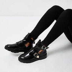 Bottes De Chaussures Blanches Avec Une Île Fluviale Double Boucle JCQOqlr