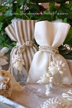 Cristalli e conchiglie Wedding Favors And Gifts, Seed Wedding Favors, Wedding Favor Bags, Diy Food Gifts, Creative Gifts, Craft Gifts, Lavender Bags, Lavender Sachets, Gift Packaging