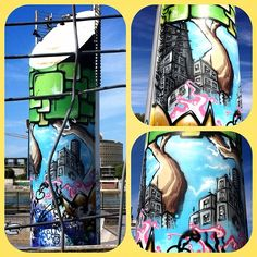 El #graffiti #art esta de moda en Sevilla.  @evita107