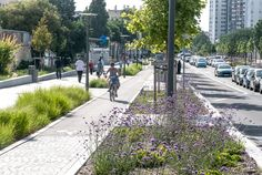 Bike path in the Mermoz sector of Lyon, France by Gautier+Conquer Architectes. Click image for full profile & visit the slowottawa.ca boards >> http://www.pinterest.com/slowottawa/