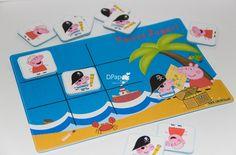 Lembrancinha Jogo da Velha no tema Peppa/George Pig Pirata <br> <br> <br>O jogo é formado por 1 tabueleiro feito em papel 240g <br>com dupla camada, persoanlizado com o nome do aniversariante e 10 fichas, sendo cada 5 com os personagens Peppa e George Pig.