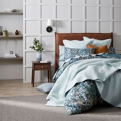 Create a calming style in your bedroom with the Water Pebbles quilt cover. Inspired by a flowing natural riverbed, organic pebble shapes are designed in turquoise, terracotta and taupe tones and printed on textured cotton. This quilt cover is finished with a filled piping trim and printed reverse. Coordinate with European pillowcases for a complete look. #duvetcover #doonacover #patternedduvetcover