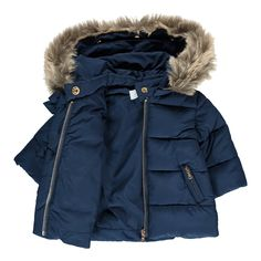 Faux Fur Hooded Girl's Down Jacket-product