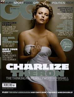 Charlize Theron for GQ magazine Charlize Theron Oscars, Charlize Theron Photos, Gq Magazine Covers, Fox Man, Mad Max Fury Road, Hugh Jackman, Best Actress, Strike A Pose, Covergirl