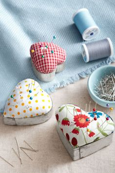 Homespun Pincushions  - CountryLiving.com