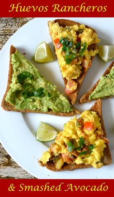 Huevos Rancheros with Smashed Avocado on Toast makes for a fantastic vegetarian breakfast or brunch.