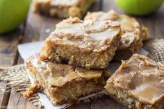 Apple Maple Blondies - These are AMAZING. Granted, they have a lot of sugar, but I used natural sugars (sucanat and maple syrup) so I don't feel as bad. :-) Plus, everyone needs a treat now and then. Used sprouted wheat flour instead of white flour and it turned out fine.