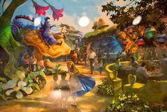 Alice in Wonderland expansion at Tokyo Disneyland concept art (2014)
