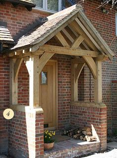 04 Sawn Green Oak Porch