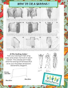 How to correctly tie a #sarong.