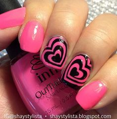 Double Heart Duo Awesome Heart Swirl action by @shaystylista Available at snailvinyls.com❤️ - Heart Swirl #NailVinyls www.snailvinyls.com