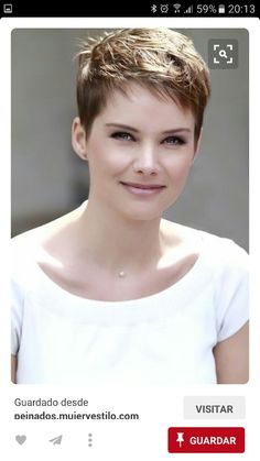Pixie Haircut Styles - Short Pixie Haircuts - Hottest Pixie Cuts - Pixie hairstyles - pixie haircut for round face - how to style a pixie haircut? Short Layered Haircuts, Short Hairstyles For Thick Hair, Short Hair With Layers, Short Hair Cuts For Women, Everyday Hairstyles, Short Cuts, Long Haircuts, Pixie Haircuts 2015, Haircut Long