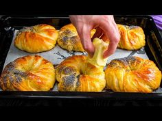 Vždycky dělám alespoň 3 porce! Nejjemnější pečený recept na světě!| Chutný TV - YouTube Biscotti, Croissants, Bagel, Spicy, Food And Drink, Bread, Baking, Loaf Bread Recipe, Savory Snacks