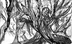 Emanuele Luzzati - Inferno XIII, serie di disegni per il Corriere della Sera (2004?)